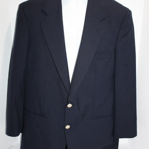 Burberry travel blazer Navy Blue Super 100's Wool